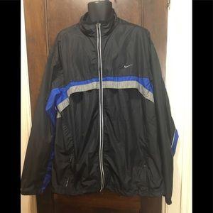 NIKE men Sz Big & Tall Black windbreaker Jacket